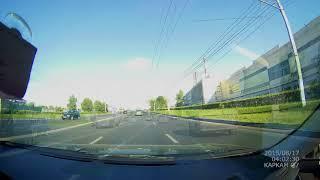 Момент ДТП на Марпосадском шоссе Чебоксары