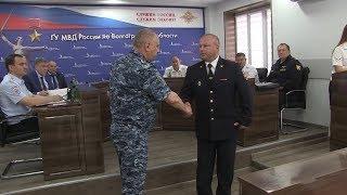 За смелость и отвагу камышинскому полицейскому вручили государственную награду