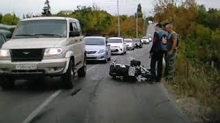 Мотоциклист разбился в ДТП с внедорожником около Затона