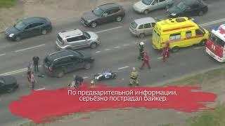 Мотоциклист пострадал в ДТП на Северном шоссе