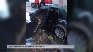 В регионе горели автомобили