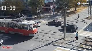 Бийск. ДТП на перекрестке ул. Васильева - Ленинградская. 1.10.2018