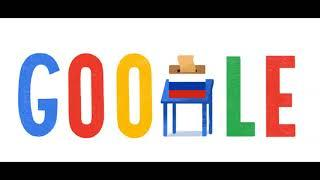 Выборы Президента России 2018 , Выборы Президента России 2018 Google Doodle