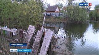 Шесть участков подтоплены паводком в Новосибирске