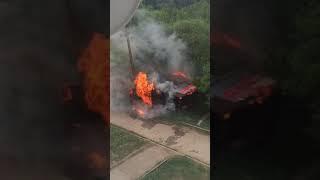 В Сыктывкаре сгорел бесхозный гараж