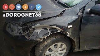 ДТП На трассе Братск - Усть-Илимск по встречал медведя. [12.07.2018]
