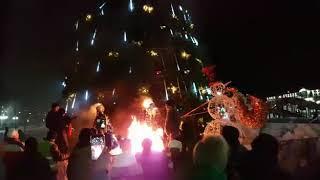 В центре Петропавловска сгорели Дед Мороз и Снегурочка
