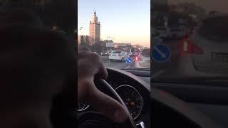 Жесткое ДТП на Кутузовском проспекте в Москве с участием Майбах и Яндекс такси