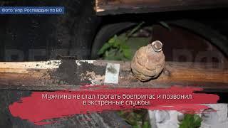 Житель Бабаево нашёл у себя под полом гранату