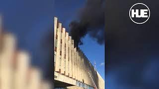В Санкт-Петербурге на видео горит здание «Ростелекома»
