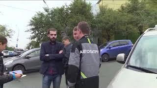 Водители не сумели разъехаться и устроили ДТП на Постышева