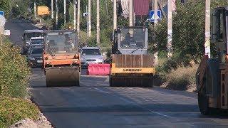 На улице Александрова идет дорожный ремонт