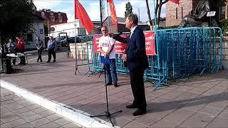 Владимир Фролов: фрагмент выступления на митинге в Оренбурге 14.06.2018