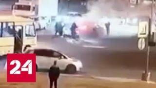 Машину в Петербурге расстрелял пьяный ветеран чеченской кампании - Россия 24