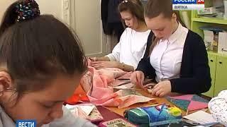 Юные кировчане делают подарки ветеранам к Дню Победы(ГТРК Вятка)