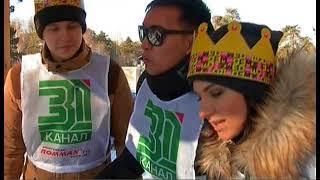 """В Челябинске выбрали """"Царя горы"""". Как прошли ледяные гонки на самодельных санях?"""