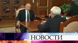 Президент обсудил с губернатором Санкт-Петербурга социально-экономическое развитие города.