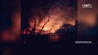 Пожар в частном доме Пятигорска