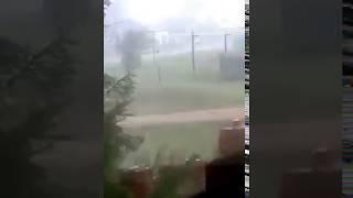 Ураган и град в Ташле 08.08.2018
