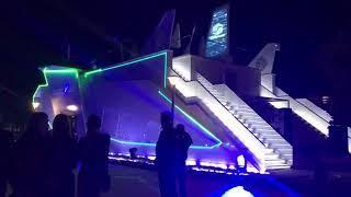 Павильон Хабаровского края на ВЭФ вечером