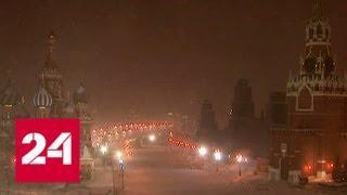 В Москве разгулялась весенняя метель - Россия 24