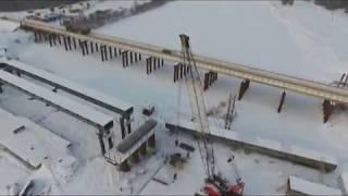 28 02 2018 Колонна автолюбителей открыла движение по отремонтированному мосту в Глазове