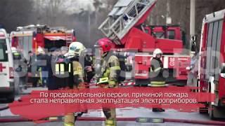 Пожарные спасли из огня двух маленьких девочек