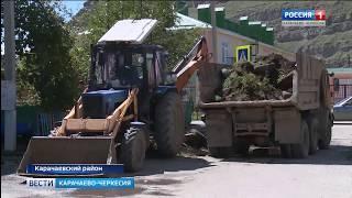 В поселке Правокубанский проводится облагораживание дворов 4-х многоквартирных домов