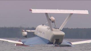 Амфибию с дополнительным двигателем испытали на Онежском озере