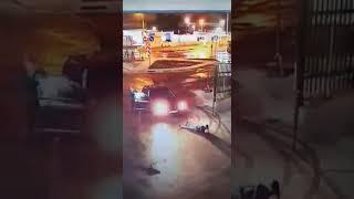 Водитель снёс ворота на Грабцевском шоссе