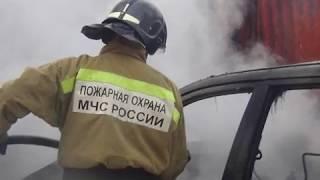 Иномарка сгорела ночью в Биробиджане(РИА Биробиджан)