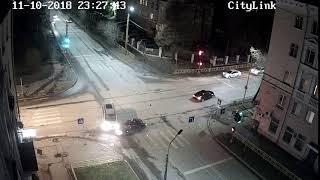 В центре Петрозаводска произошло лобовое ДТП