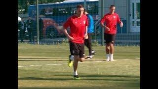 В Светлогорске прошла первая открытая тренировка сборной Сербии