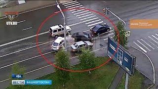 Массовая авария в Уфе: один человек госпитализирован