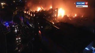 В Иркутской области ликвидировали крупный пожар в мебельном центре