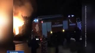 В Ростове около крупного ТЦ потушили пожар в нежилом доме