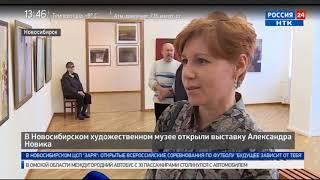 В Новосибирском художественном музее открыли выставку Александра Новика