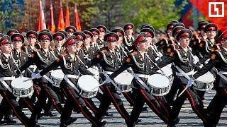 Парад кадетов на Поклонной горе