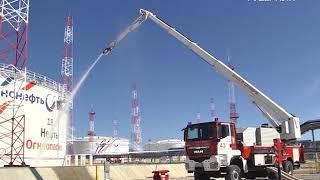 Самарские пожарные учились ликвидировать ЧП на топливном предприятии