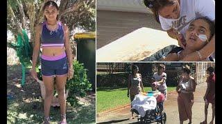 Today Latest News - Denishar Woods spends first night out of hospital since electric shock
