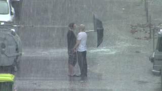 Град, дождь и гроза в Тюмени 10 июля