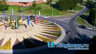 Нетрадиционное ДТП на кингисеппском кольце. Видео момента столкновения с веб-камеры KINGISEPP.RU