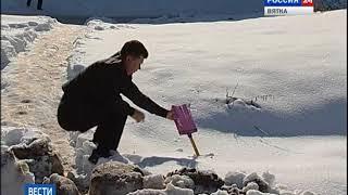 Дороги и крыши: четвертый день после рекордного снегопада(ГТРК Вятка)