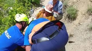 Женщина с переломами ноги эвакуирована спасателями в окрестностях Судака