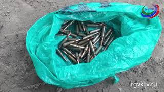 В пригороде Махачкалы найден склад боеприпасов