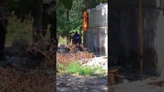 В Заводском районе загорелась газовая труба