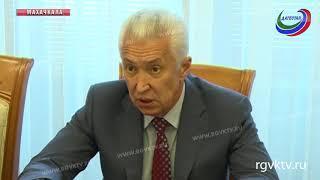 Врио главы Дагестана встретился с зампредседателя правления компании «Газпром»