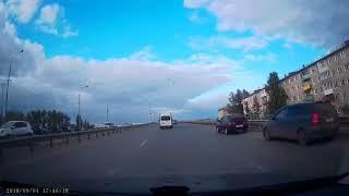"""Момент """"поучительного"""" ДТП в Амуре (04.09.2018)"""