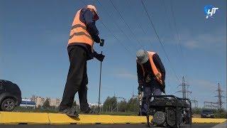 Строители должны закончить ремонт дороги на Хутынь до конца года