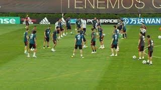 Сборная Испании по футболу провела тренировку на стадионе «Краснодар»